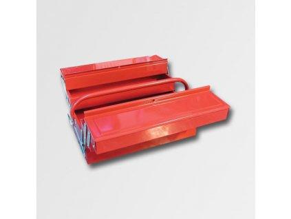 Kufr na nářadí kov. 404x200x150mm 5 přihrádek TB123 PA78745