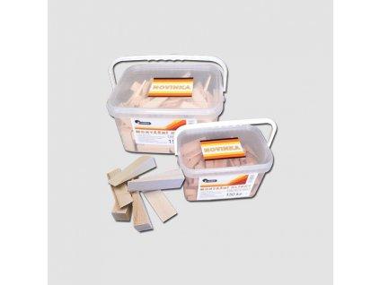 Klínky montážní 100x25x16-1 mm - balení 120 ks vědro