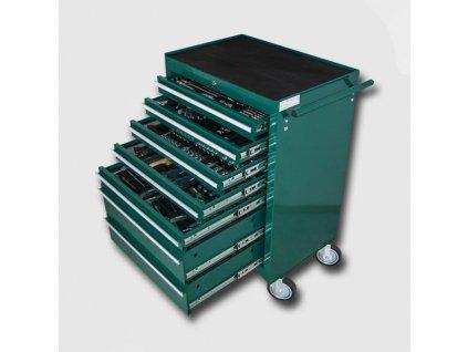 Montážní vozík na nářadí kovový vybavený 231 dílů 680x458x860mm HA250