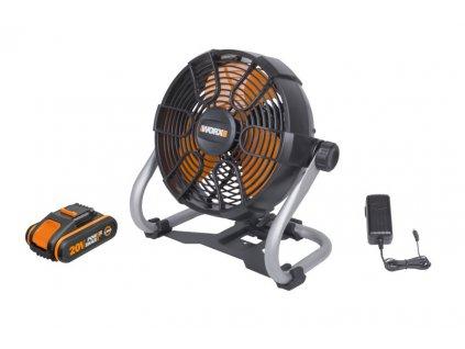 WX095 - Aku ventilátor 20V, 242mm, 1x2.0Ah - Powershare