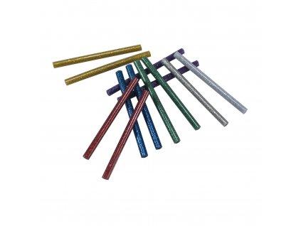 Tavné lepící tyčinky 11x100mm, 12ks barevné