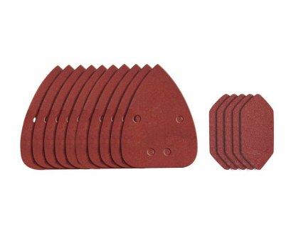 WA2066 - Brusný papír na suchý zip - set pro WX648 - zrnitost 80 - 15 ks