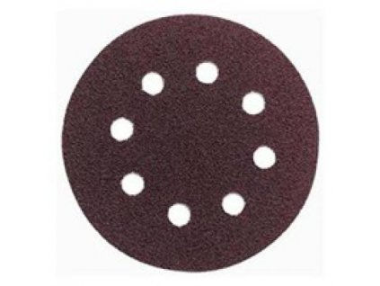 Brusný disk - pr. 125 zr. 80 pro ESM1007, ESM1009, WU652 (suchý zip, 8 děr)