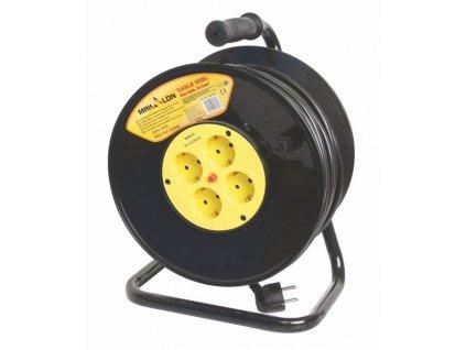 Prodlužovací kabel na bubnu 25m 4 zásuvky