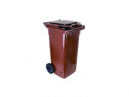 popelnice 120 L  plastová BIO s kolečky 10.86-P120-BIO