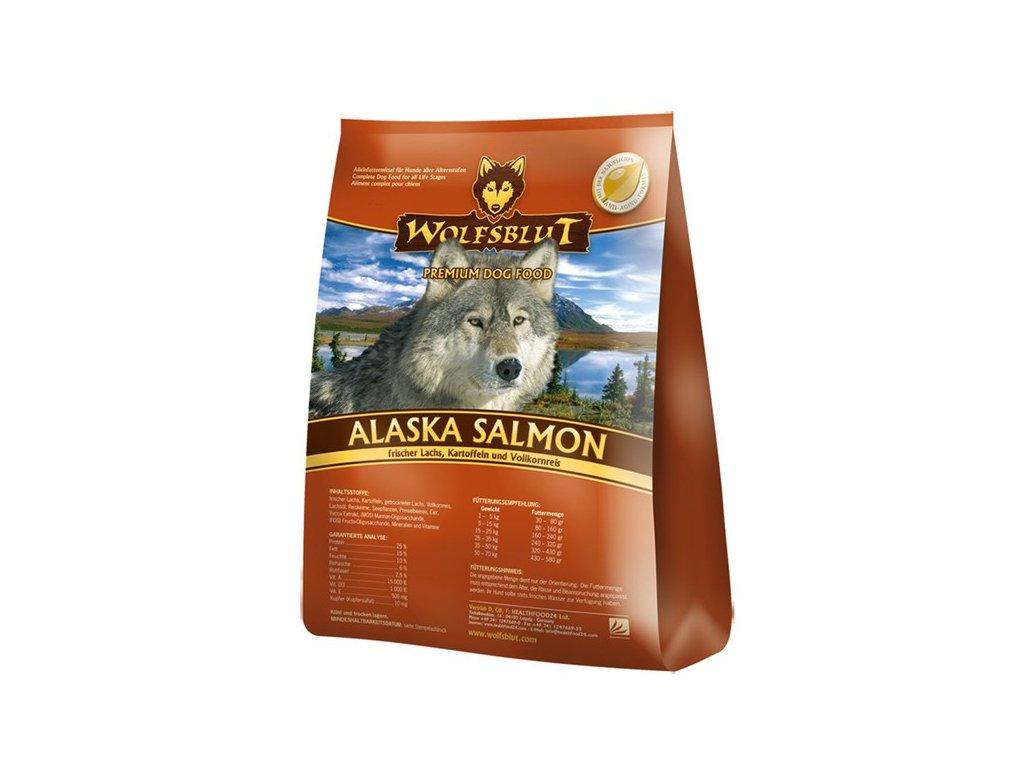 WOLFSBLUT ALASKA SALMON 15kg - granule pro psa z Aljašského lososa