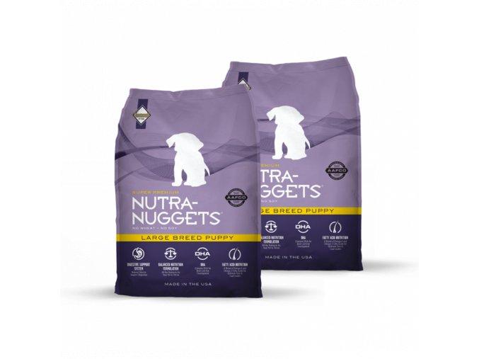 Dvojbalení Nutra Nuggets Large Breed Puppy 15 kg