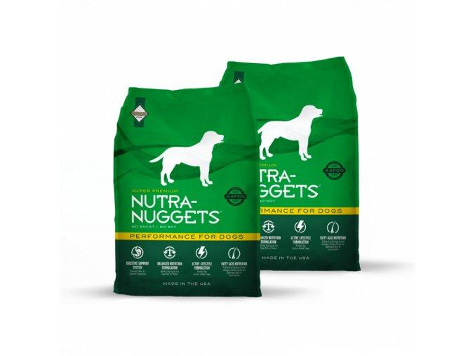 Dvojbalení Nutra Nuggets Performance 15 kg