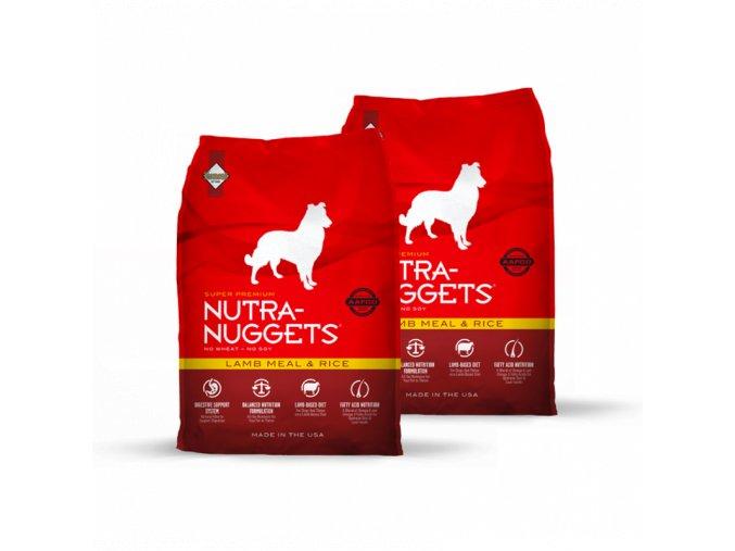 Dvojbalení Nutra Nuggets Lamb & Rice 15 kg