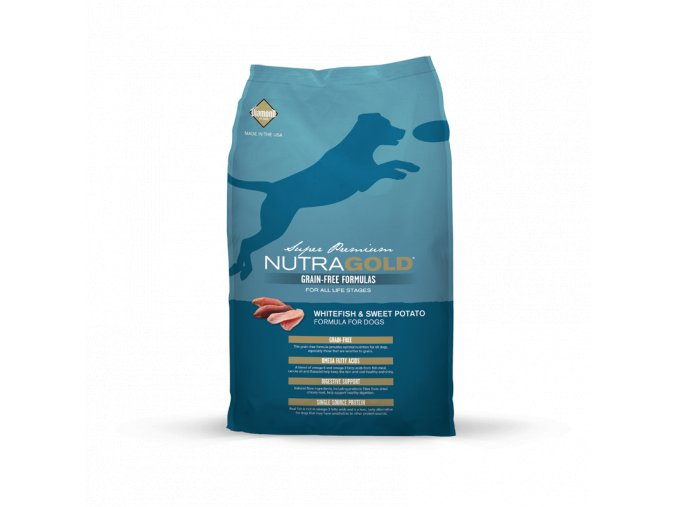 Nutra Gold Whitefish&Sweet Potato GRAIN FREE 2,25 kg