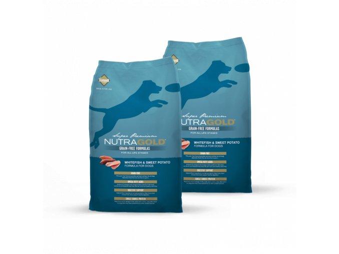 Dvojbalení Nutra Gold Whitefish&Sweet Potato GRAIN FREE 13,6 kg