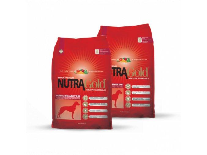 Dvojbalení Nutra Gold Adult Lamb&Rice 15 kg