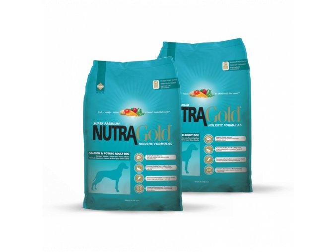 Dvojbalení Nutra Gold Salmon & Potato 15 kg