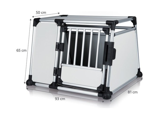 TRIXIE Transportní klec - hliníkový rám, pevné panely 93x65x81 cm