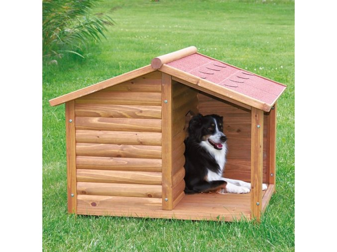 TRIXIE Natura bouda dřevěná chata s terasou 100x82x90