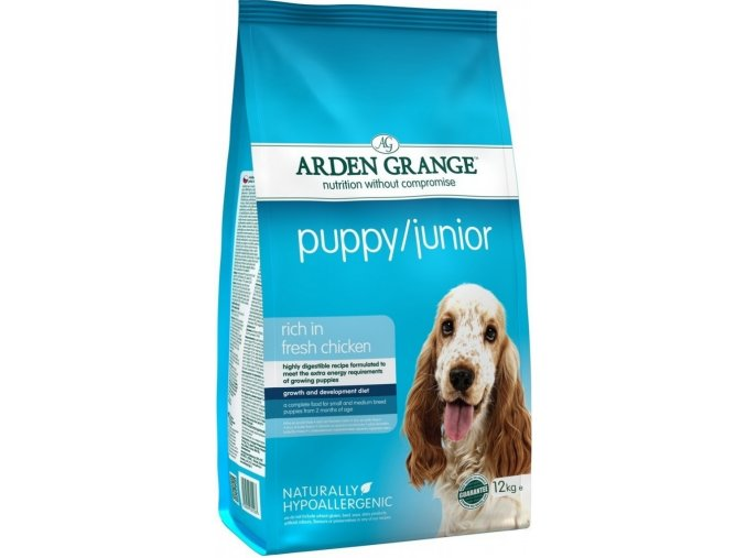 Arden Grange Puppy/Junior rich in fresh Chicken 12kg