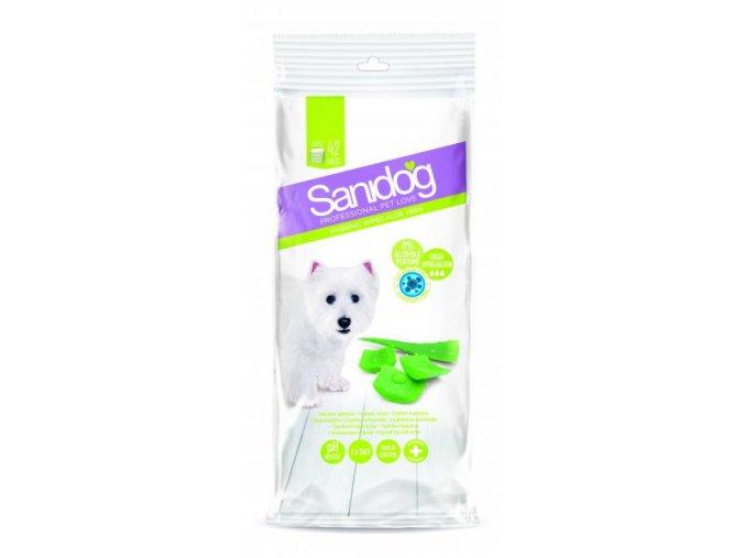 SANIDOG čistící ubrousky [42ks] Aloe Vera pro psy