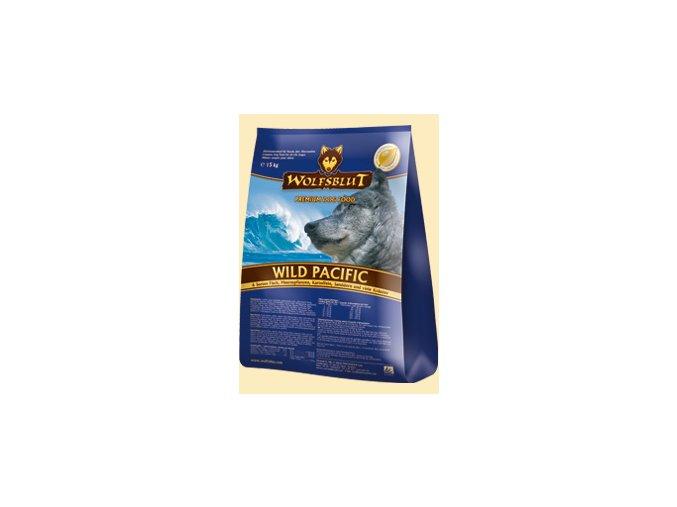 WOLFSBLUT WILD PACIFIC 15kg - granule pro psa 6 druhů ryb