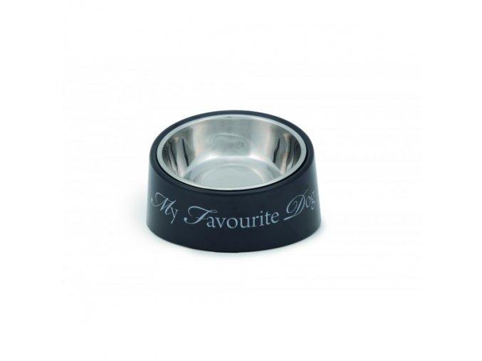 Černá miska My Favourite DOG pro psy