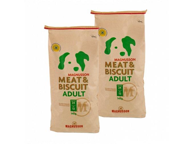 Dvojbalení Magnusson Meat & Biscuit ADULT 14 Kg
