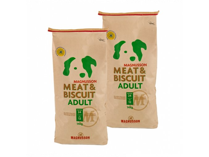 Dvojbalení Magnusson Meat & Biscuit ADULT 14 Kg