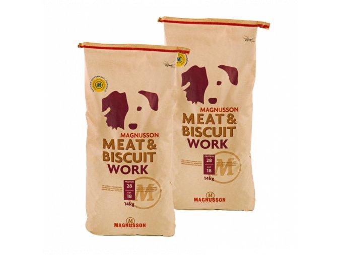 Dvojbalení Magnusson Meat & Biscuit WORK 14 Kg