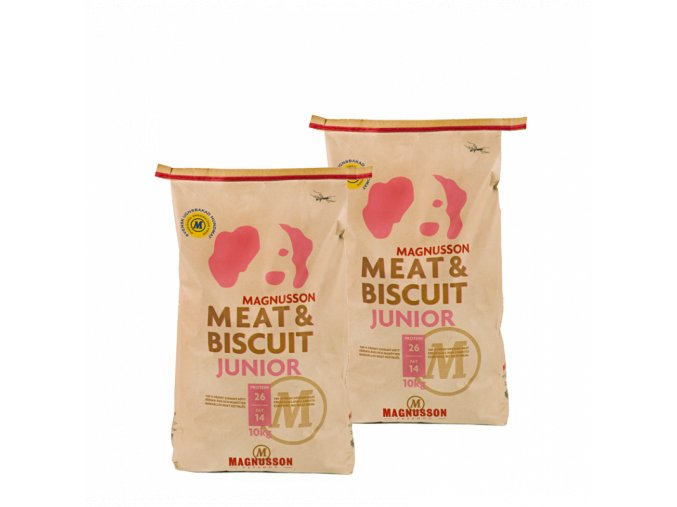 Dvojbalení Magnusson Meat & Biscuit JUNIOR 10 Kg
