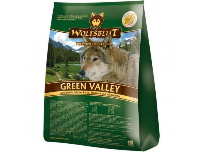 WOLFSBLUT GREEN VALLEY 15kg - granule pro psa z Novozélandského jehněčího a divokého lososa