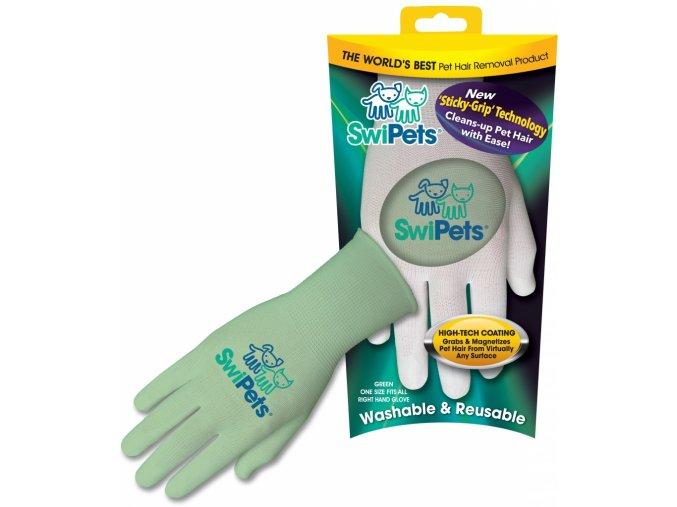 Elektrostatická rukavice SwiPets zelená