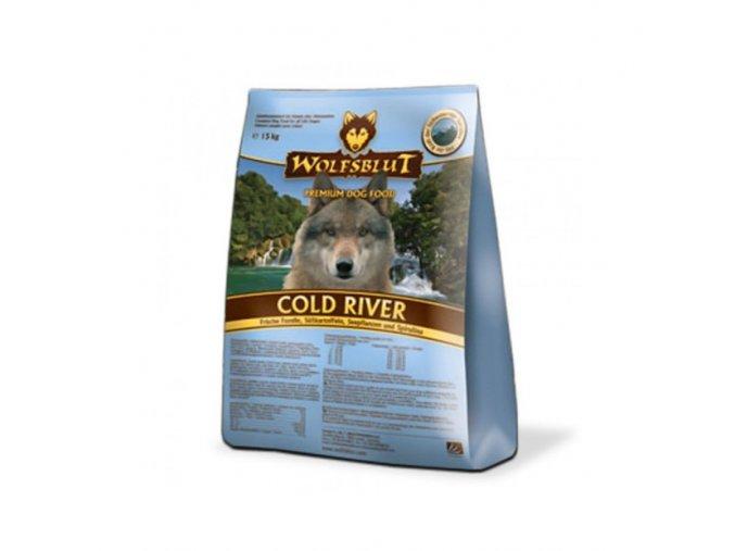 WOLFSBLUT COLD RIVER 15kg - granule pro psa z lososa a pstruha