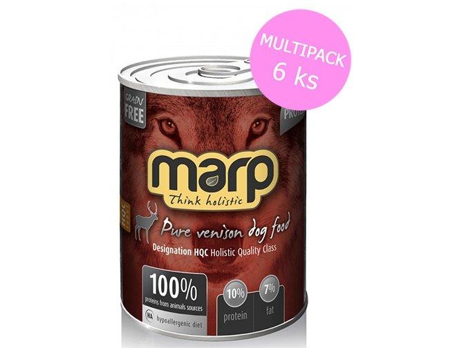 Marp Pure Venison konzerva pro psy 6x400g