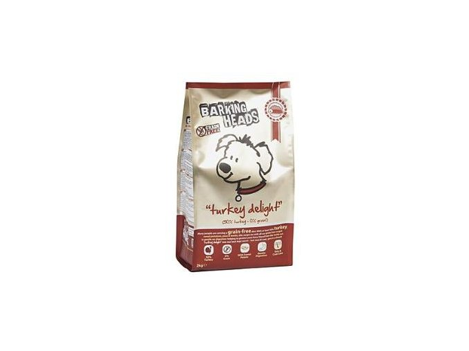 BARKING HEADS Turkey Delight GRAIN FREE 2kg