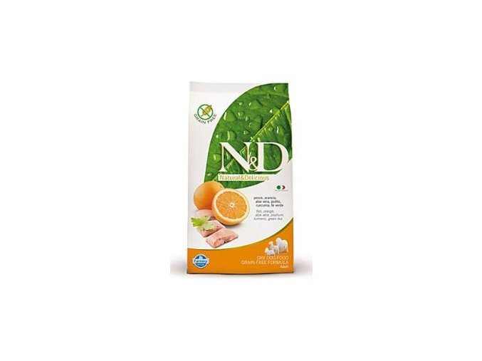 N&D Grain Free DOG Adult Fish & Orange 2,5kg