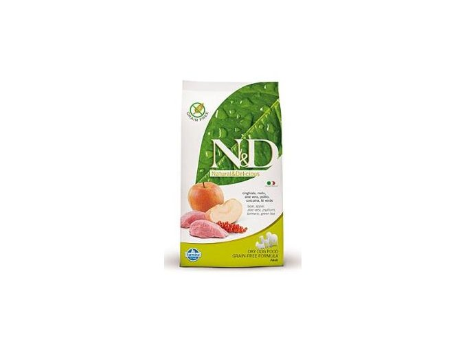 N&D Grain Free DOG Adult Boar & Apple 12kg