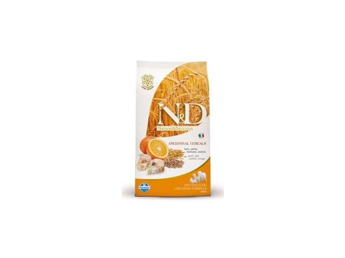 N&D Low Grain DOG Adult Codfish & Orange 800g