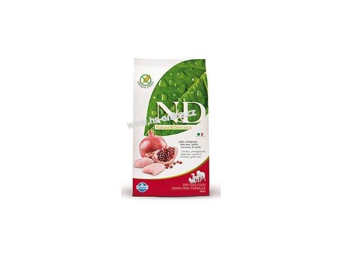 N&D Grain Free DOG Adult Maxi Chicken&Pomegranate 12kg