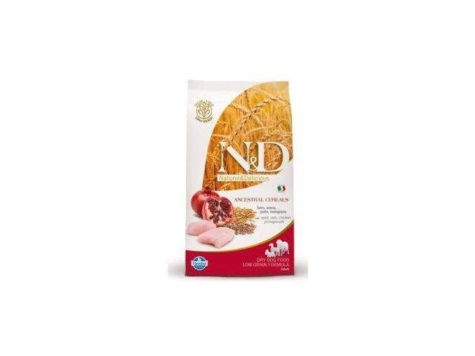 N&D Low Grain DOG Senior S/M Chicken & Pomegr 2,5kg