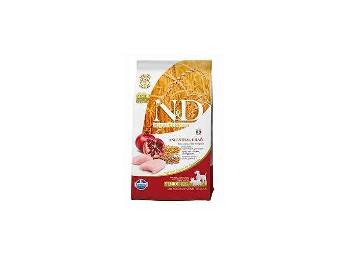 N&D Low Grain DOG Senior S/M Chicken & Pomegrante 800g