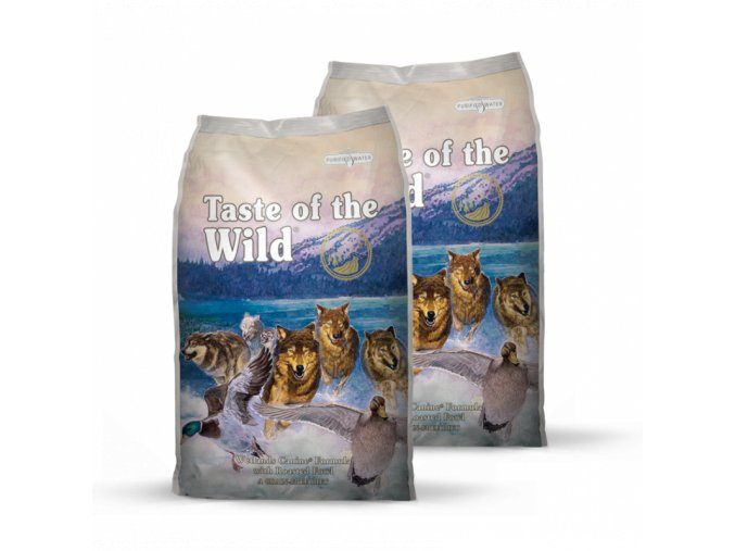 Dvojbalení Taste of the Wild Wetlands Wild Fowl 13 kg