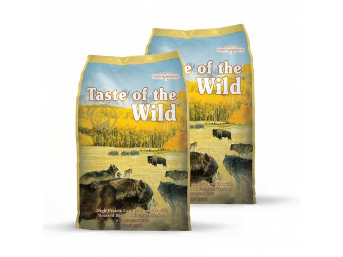 Dvojbalení Taste of the Wild High Prairie Canine 13kg