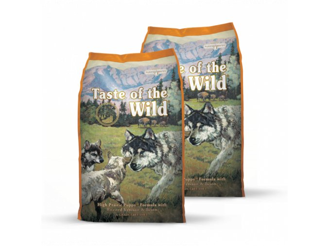 Dvojbalení Taste of the Wild High Prairie Puppy 13kg