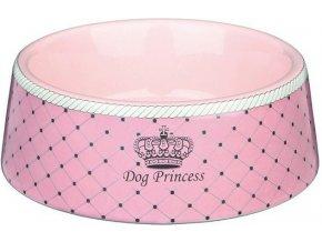 DOG PRINCESS - keramická miska růžová 0,18 l/12 cm