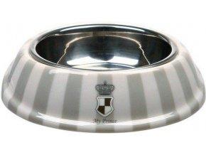 My Prince kombinovaná miska melamin/nerez 0,25l/17 cm šedá