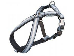 Postroj Softline DOG PRINCE S-M 40-66 cm/20 mm šedo-bílý