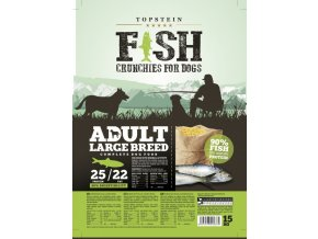Topstein Fish Crunchies Adult Large Breed 5 kg