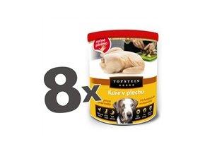 Topstein kuře v plechu 8 x 855g