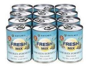 Konzerva Artemis Fresh Mix Chicken Dogs 370g (11+1 zdarma)