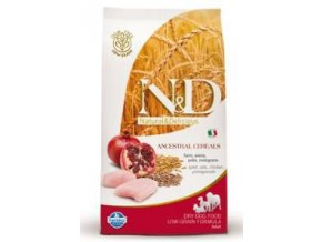 N&D Low Grain DOG Senior S/M Chicken & Pomegr 2,5kg
