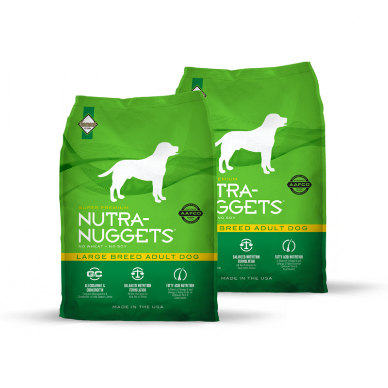 Dvojbalení Nutra Nuggets Large Breed Adult 15 kg