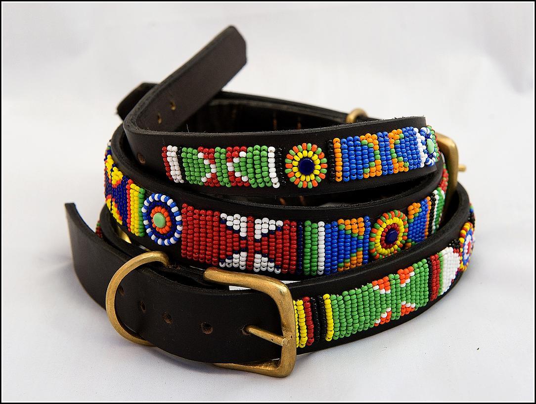 NON-STOP Dogwear Masajský kožený obojek color Velikost: 12